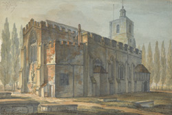 N.N.E. View of Stepney Church